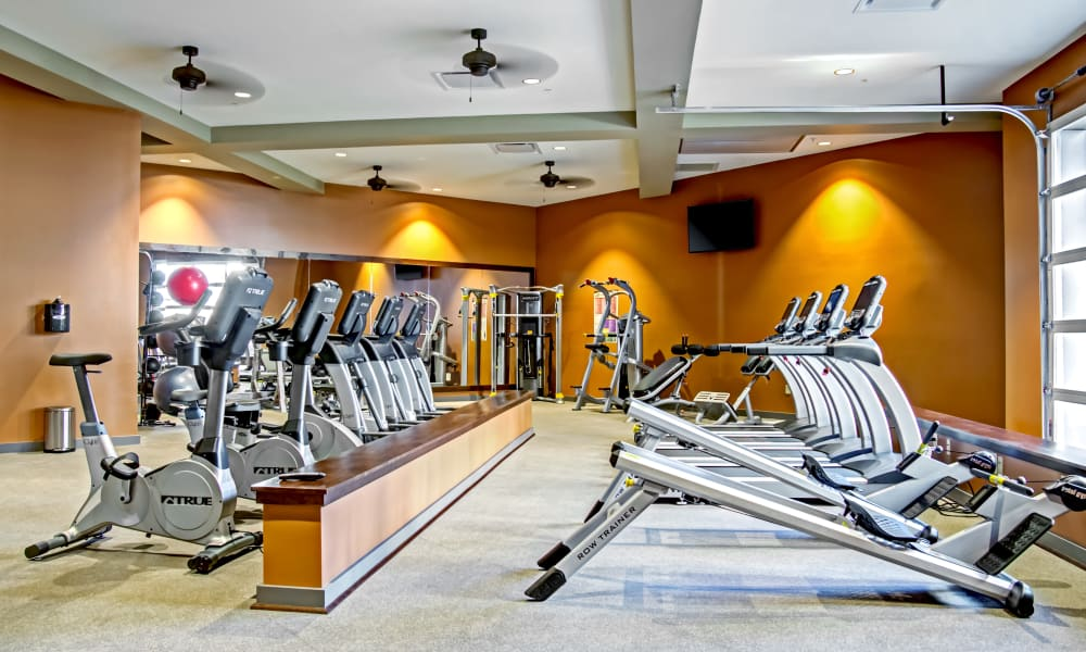 State-of-the-art fitness center at Station 40 in Nashville, Tennessee
