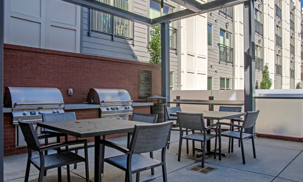 Luxury grilling area at Station 40 in Nashville, Tennessee