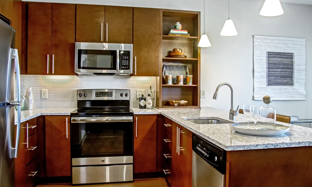 Modern kitchen at Station 40 in Nashville, Tennessee