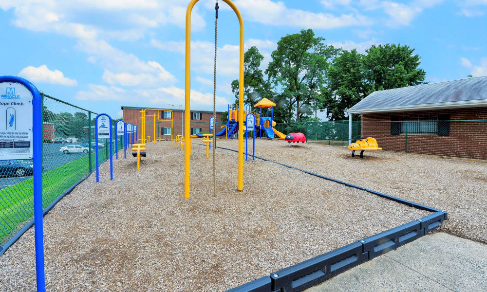 Enjoy apartments with a playground at Brookmont Apartment Homes