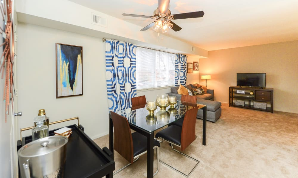 Enjoy apartments with a living room at Brookmont Apartment Homes