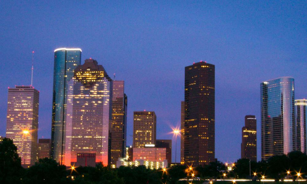 Houston, Texas at night near Carmel Creek