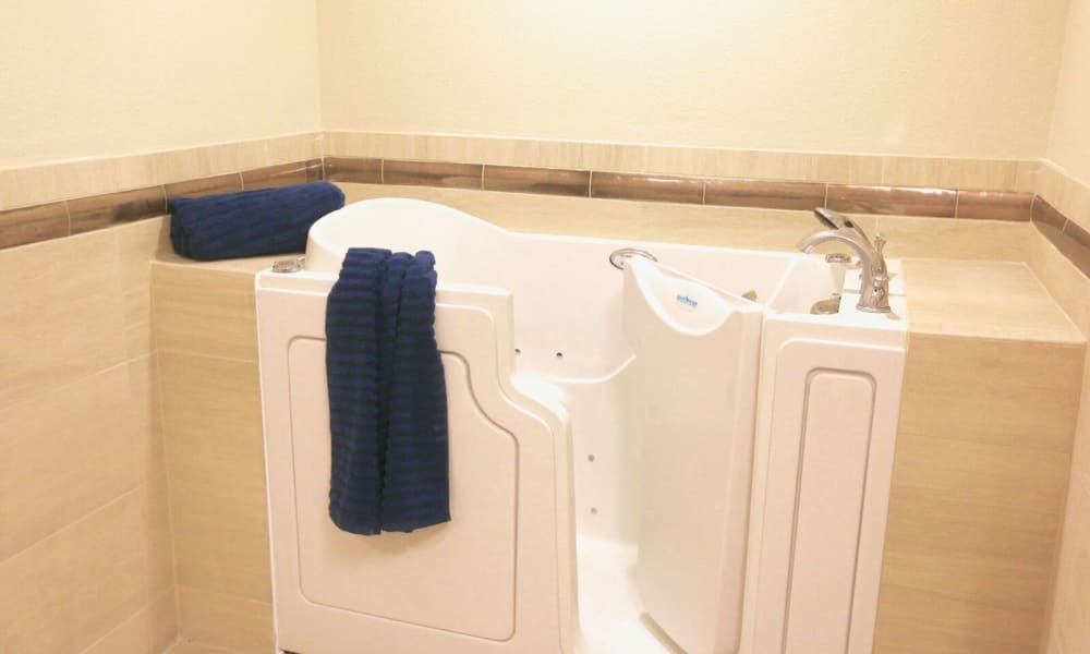 Large walk-in bath at Westwind Memory Care in Santa Cruz, California