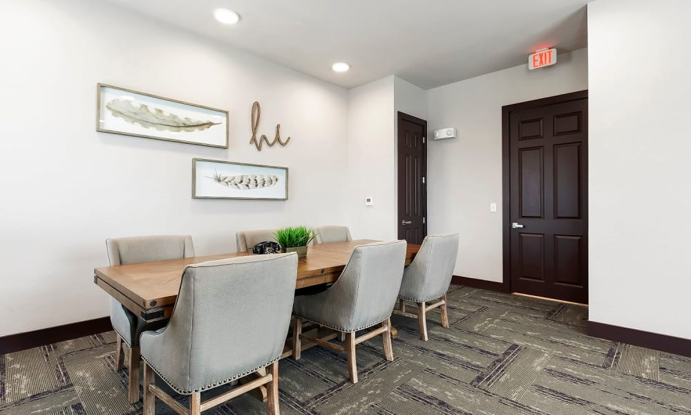Conference room at Plum Creek Vue in Kyle, Texas