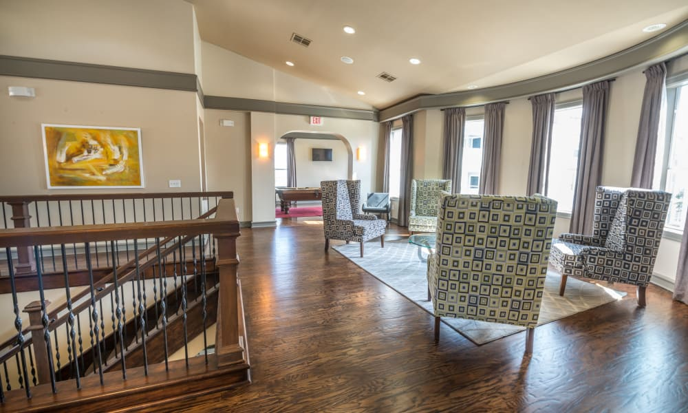 Clubhouse seating at Archer Stone Canyon in San Antonio, Texas