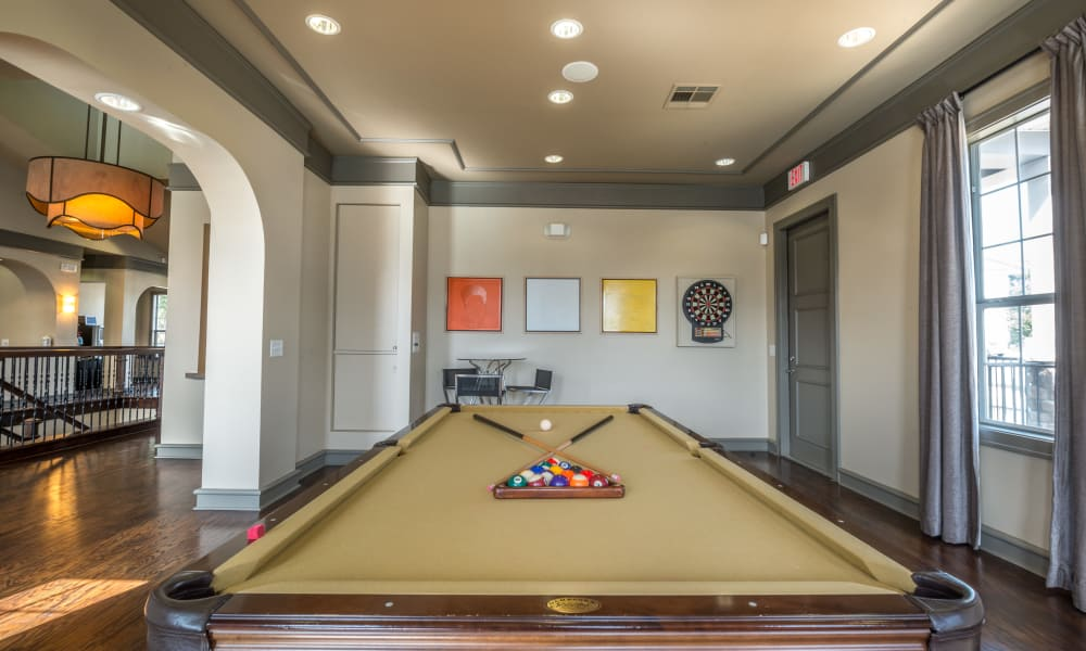 Wonderful game room at Archer Stone Canyon in San Antonio, Texas