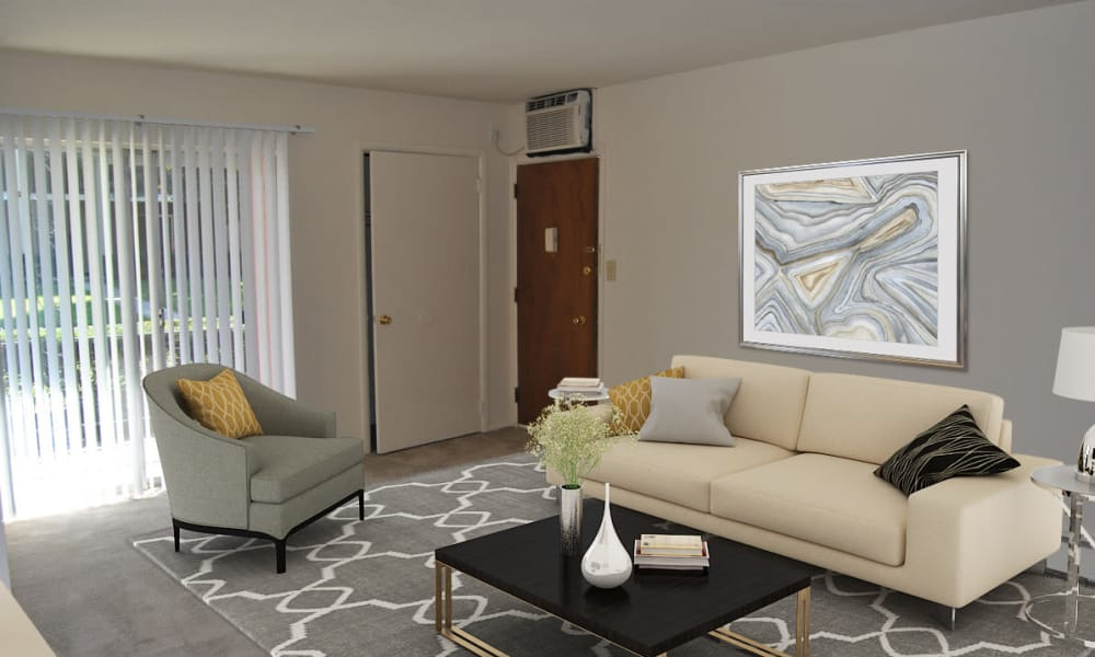 Living Room at Edgewater Gardens Apartment Homes in Long Branch, New Jersey
