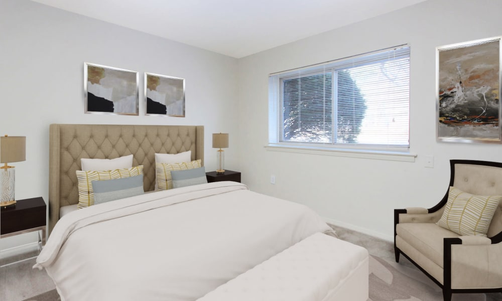Bedroom at Glen Ridge Apartment Homes in Glen Burnie, Maryland