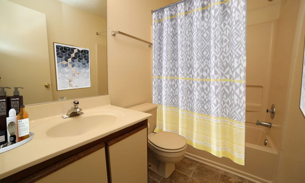Bathroom at The Pointe at Stafford Apartment Homes in Stafford, Virginia