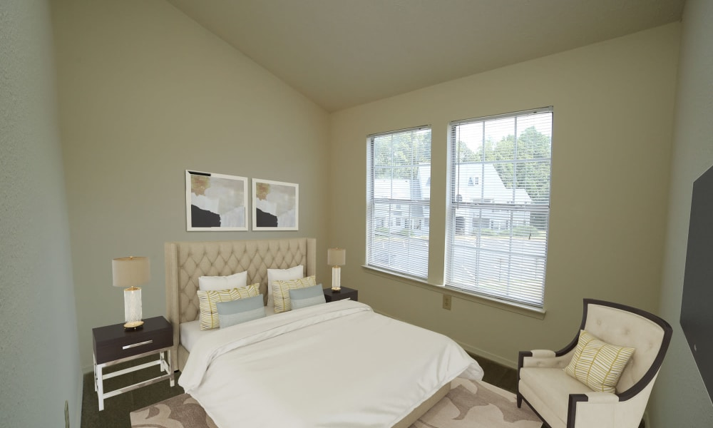 Bedroom at The Pointe at Stafford Apartment Homes in Stafford, Virginia
