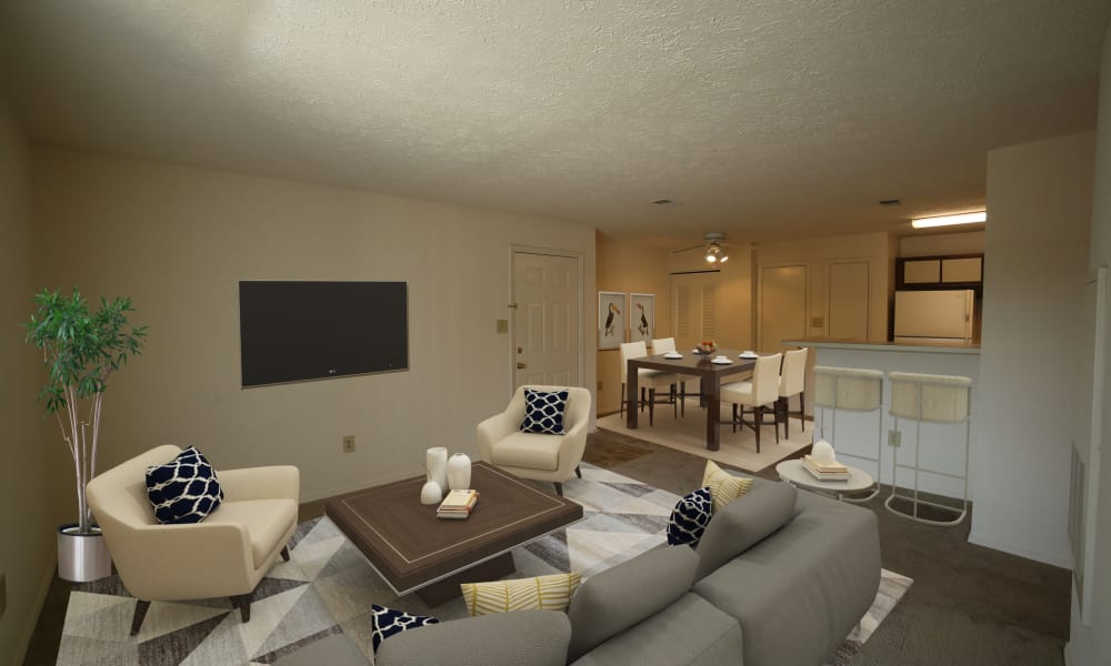 Living Room at The Pointe at Stafford Apartment Homes in Stafford, Virginia