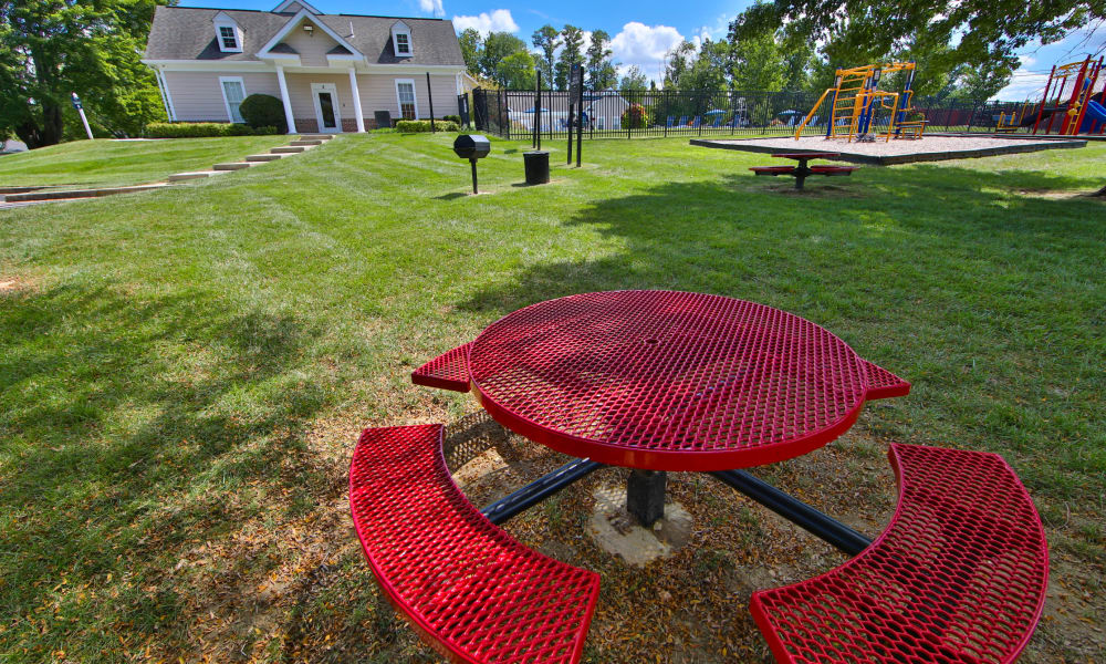 Picnic table at Westerlee Apartment Homes in Baltimore, Maryland