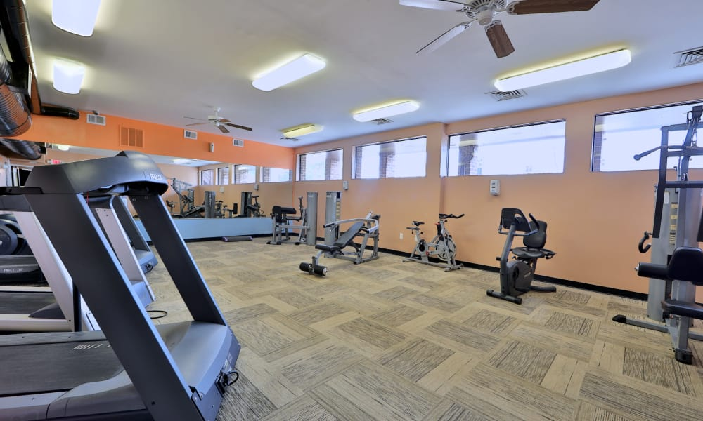 Fitness center at Carriage Hill Apartment Homes in Randallstown, Maryland