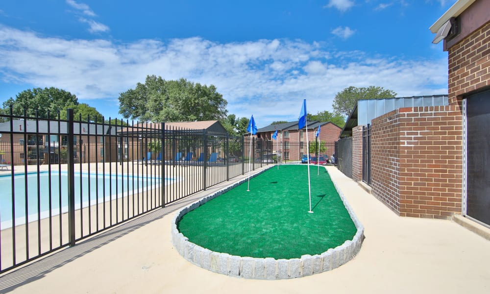 Putting green at Carriage Hill Apartment Homes in Randallstown, Maryland