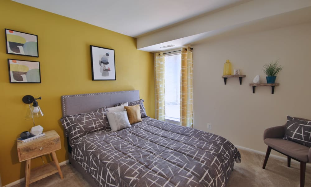 Bedroom Bedroom at Carriage Hill Apartment Homes in Randallstown, Maryland