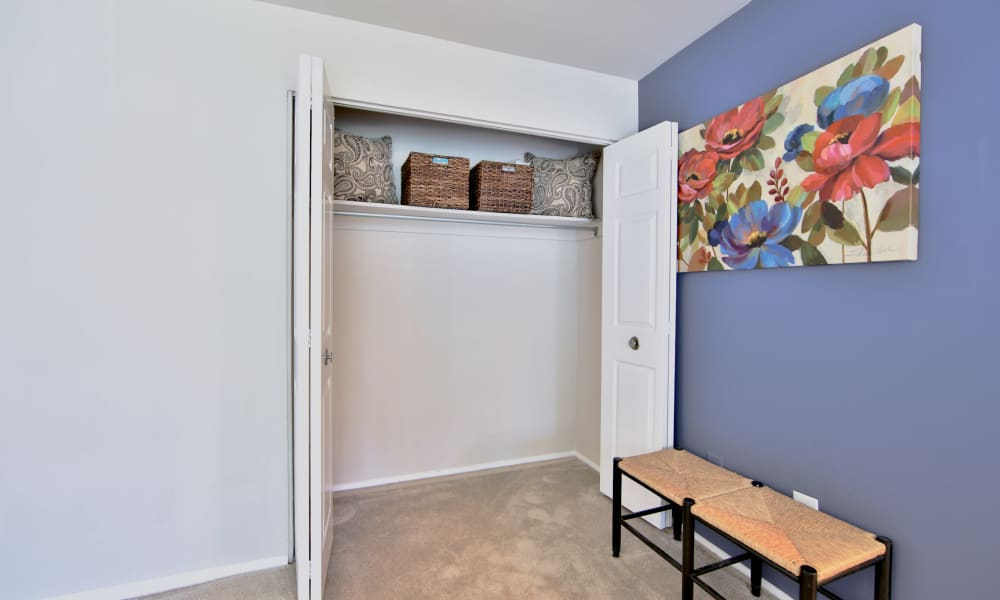 Closet at The Preserve at Owings Crossing Apartment Homes in Reisterstown, Maryland