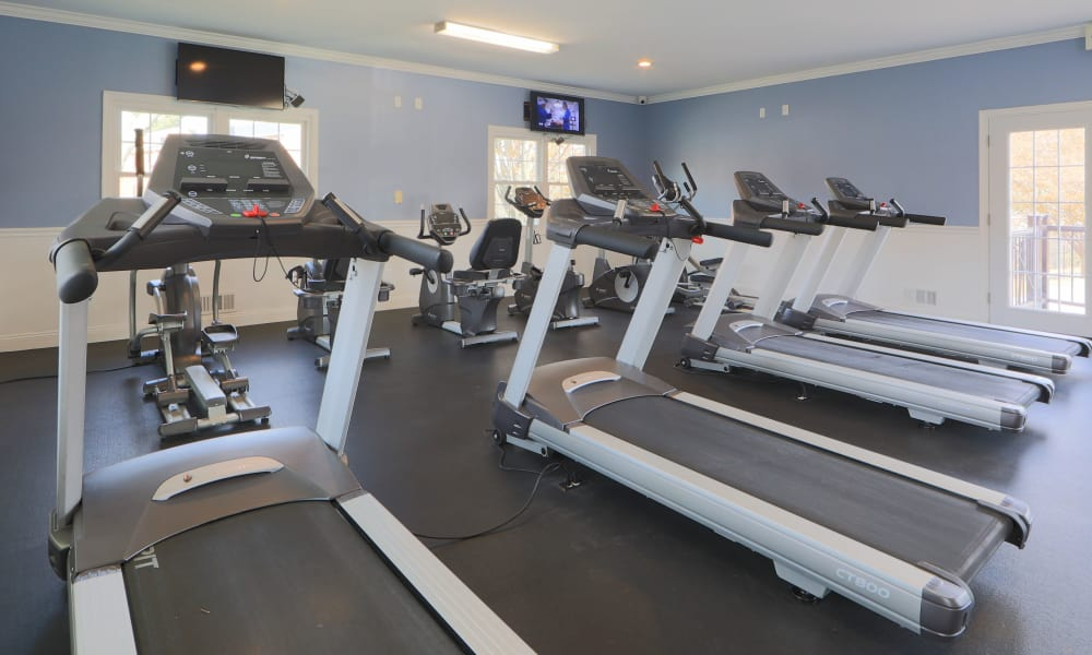 Fitness center at The Preserve at Owings Crossing Apartment Homes in Reisterstown, Maryland