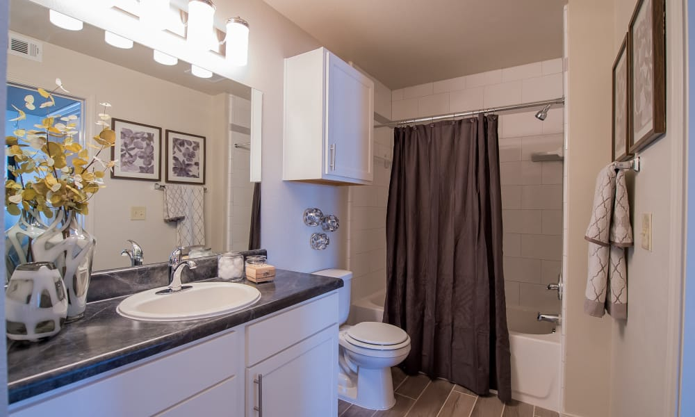 Bathroom at Cottages at Tallgrass Point Apartments in Owasso, Oklahoma