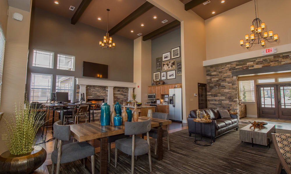 Clubhouse for residents at Cottages at Tallgrass Point Apartments in Owasso, Oklahoma