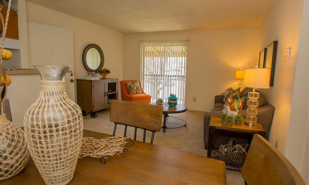 Spacious model apartment at Country Hollow in Tulsa, Oklahoma