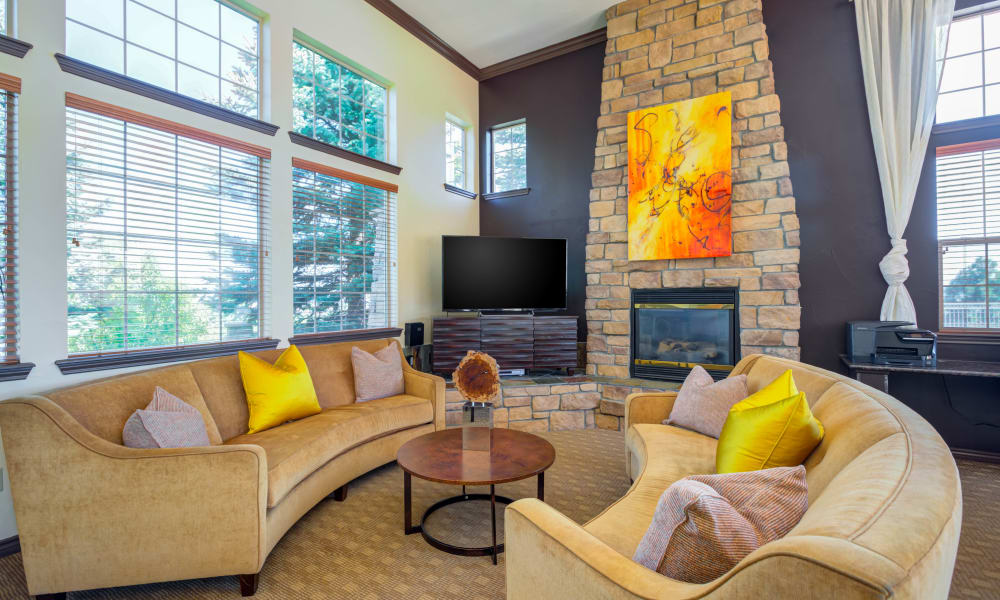 Modern living room at Resort at University Park in Colorado Springs, Colorado