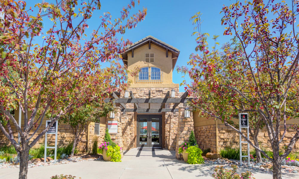 Beautiful entryway at Resort at University Park in Colorado Springs, Colorado