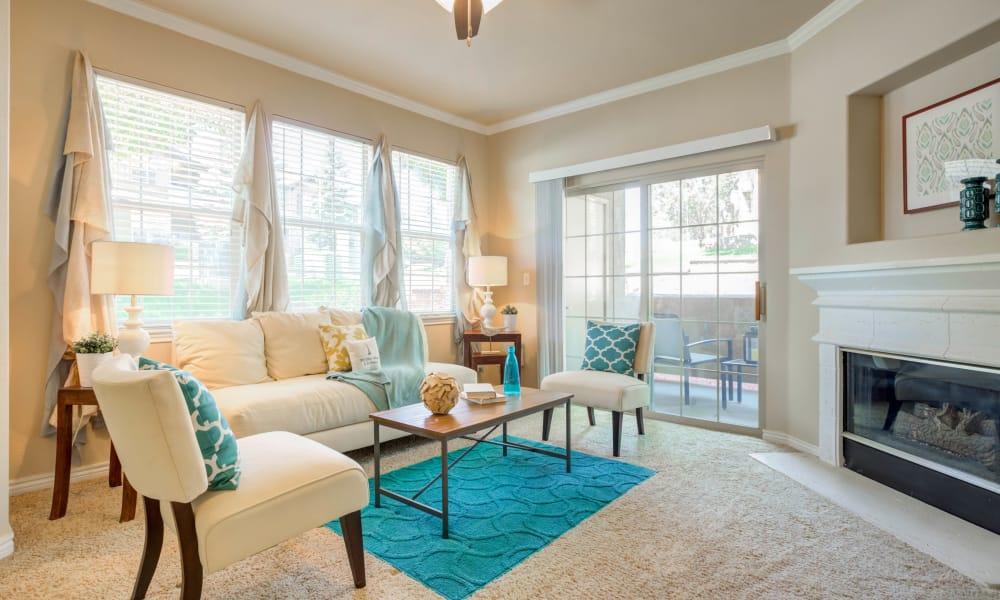 Living room at Resort at University Park in Colorado Springs, Colorado
