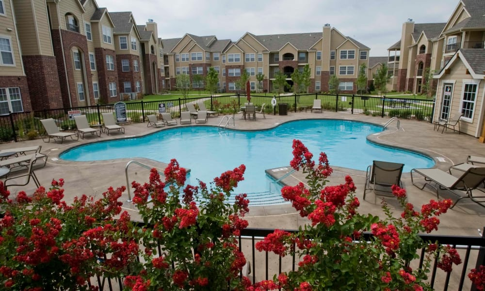 Our luxury apartments in Yukon, Oklahoma showcase a swimming pool