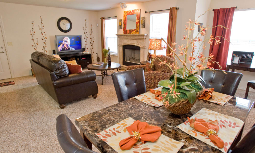 An open floor plan at The Park on Westpointe in Yukon, Oklahoma
