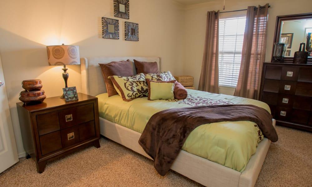 Well-lit bedroom at Park at Tuscany in Oklahoma City, Oklahoma