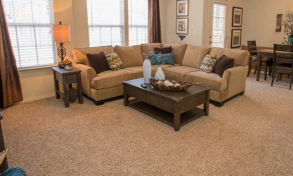 Living room at Park at Tuscany in Oklahoma City, Oklahoma