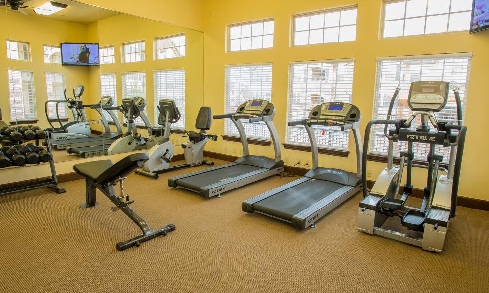 Modern fitness center at Park at Tuscany in Oklahoma City, Oklahoma