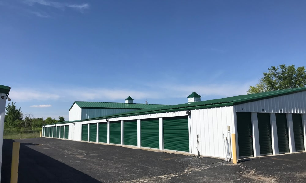 Storage unit exterior at New Albany Self Storage in New Albany, Ohio