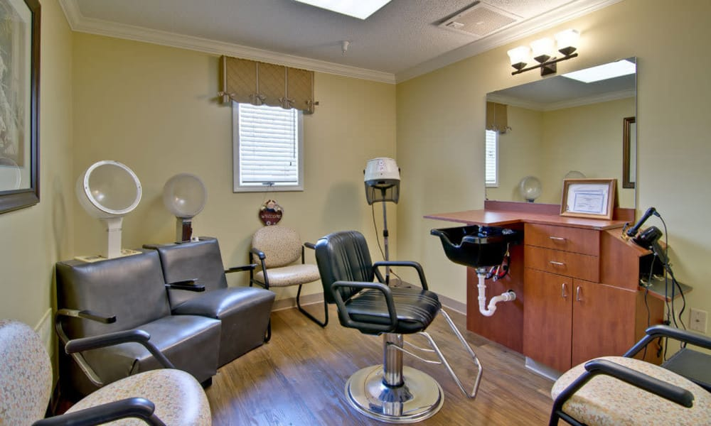 Hair salon at The Arbors at Parkside in Rolla, Missouri