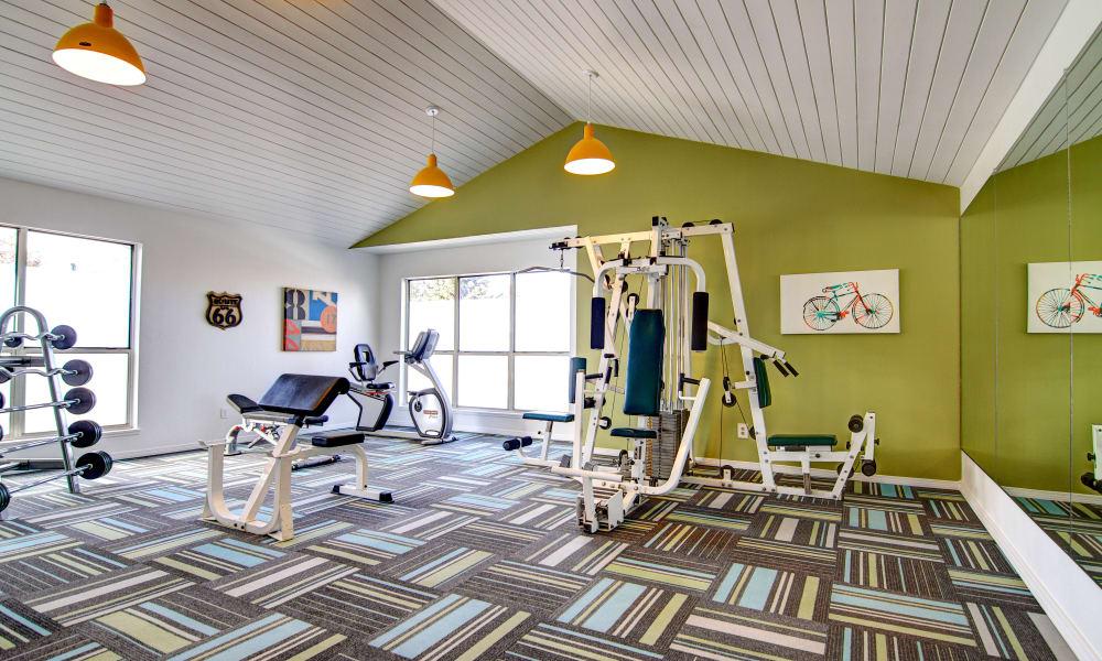 New renovated fitness center at Keystone Apartments in Northglenn, Colorado