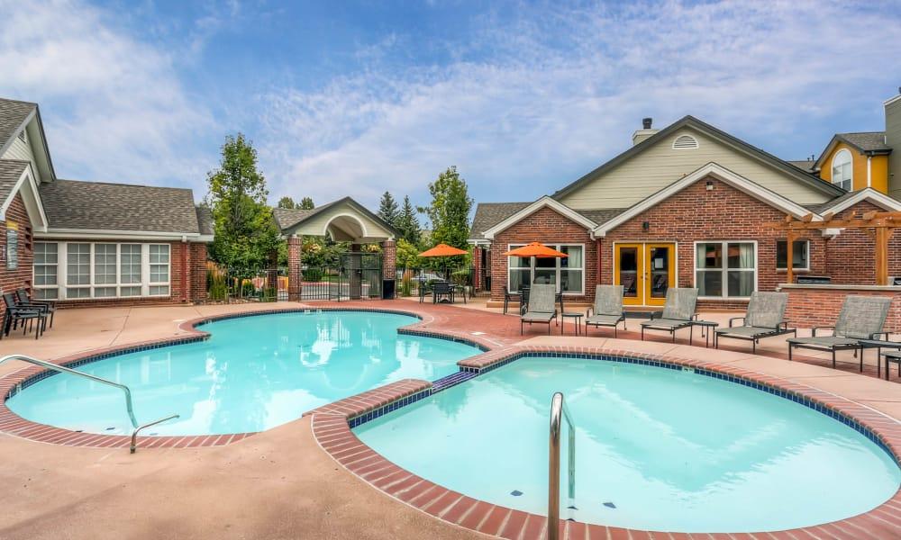 New renovated swimming pool at Keystone Apartments in Northglenn, Colorado
