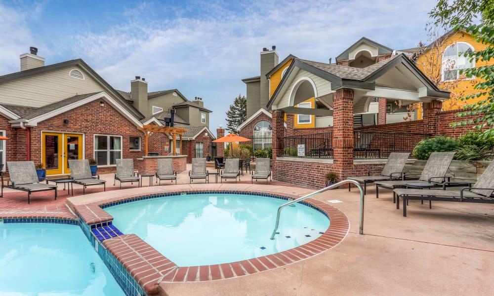 Swimming pool at Keystone Apartments in Northglenn, Colorado