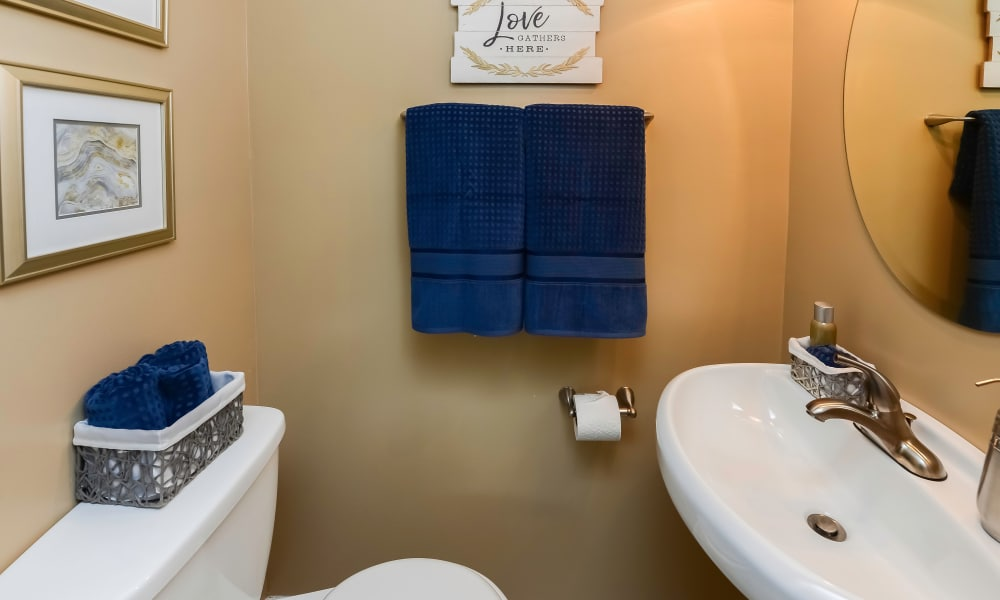 Bathroom at Montgomery Manor Apartments & Townhomes in Hatfield, Pennsylvania