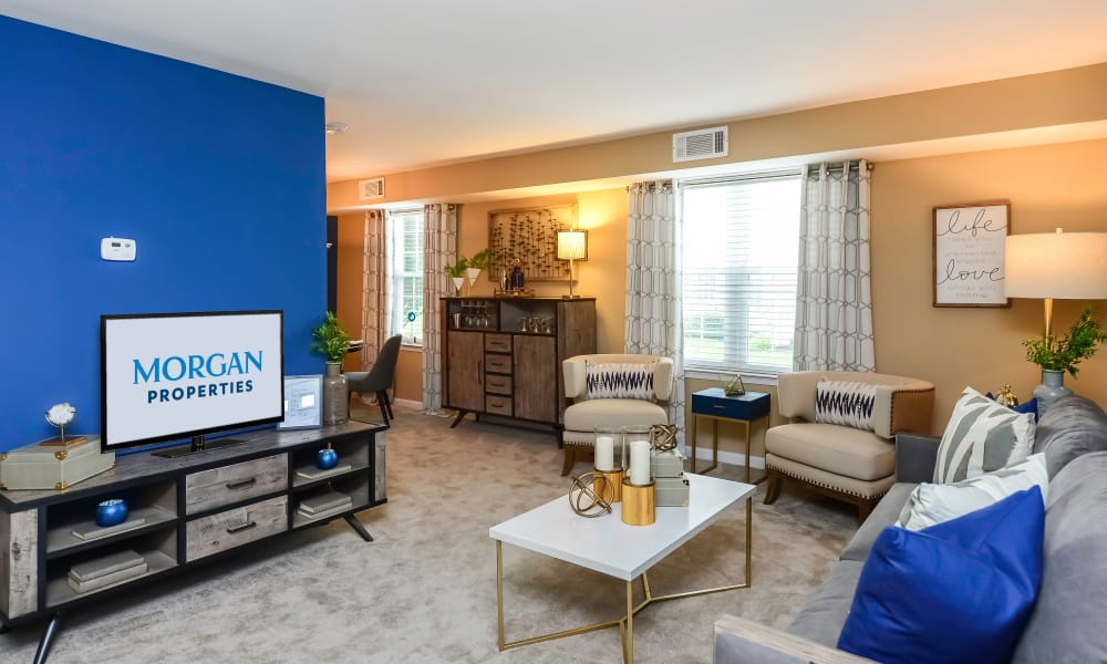 Living Room at Montgomery Manor Apartments & Townhomes in Hatfield, Pennsylvania