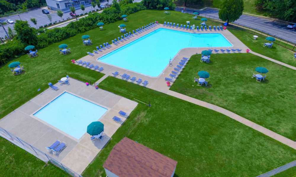 Swimming Pool at Kingswood Apartments & Townhomes in King of Prussia, Pennsylvania