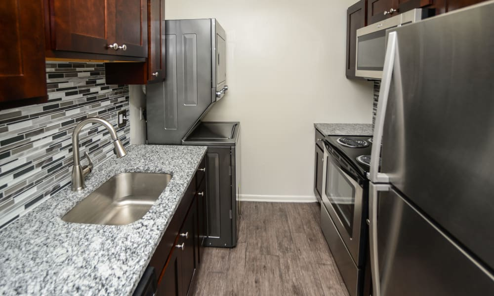 Kitchen at Kingswood Apartments & Townhomes in King of Prussia, Pennsylvania