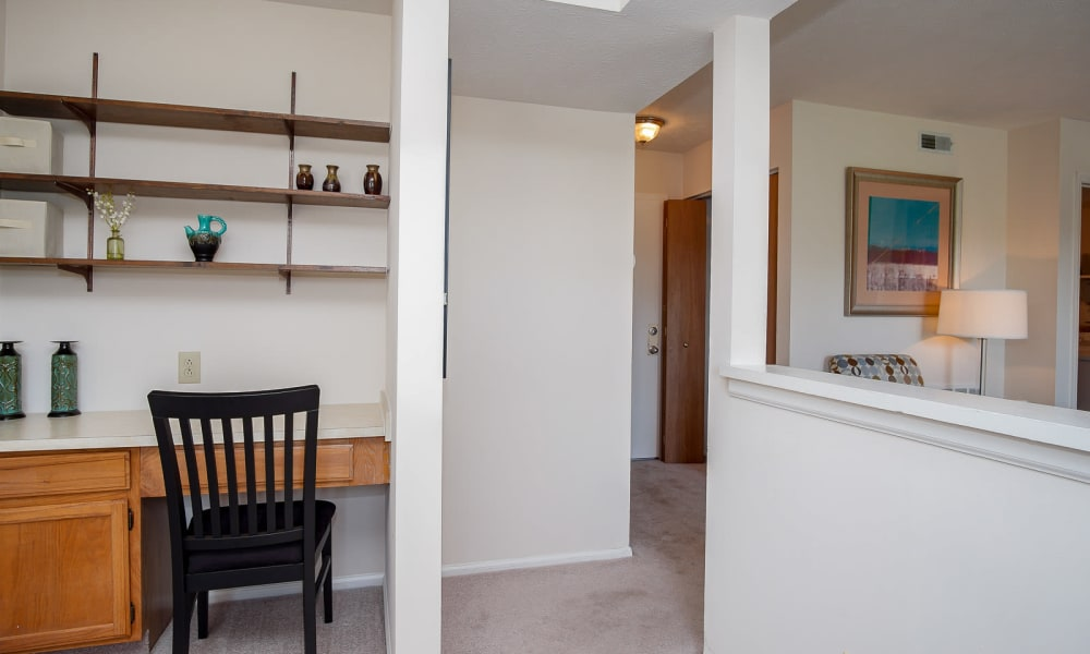 Our Apartments in Miamisburg, Ohio have built-in home office desks