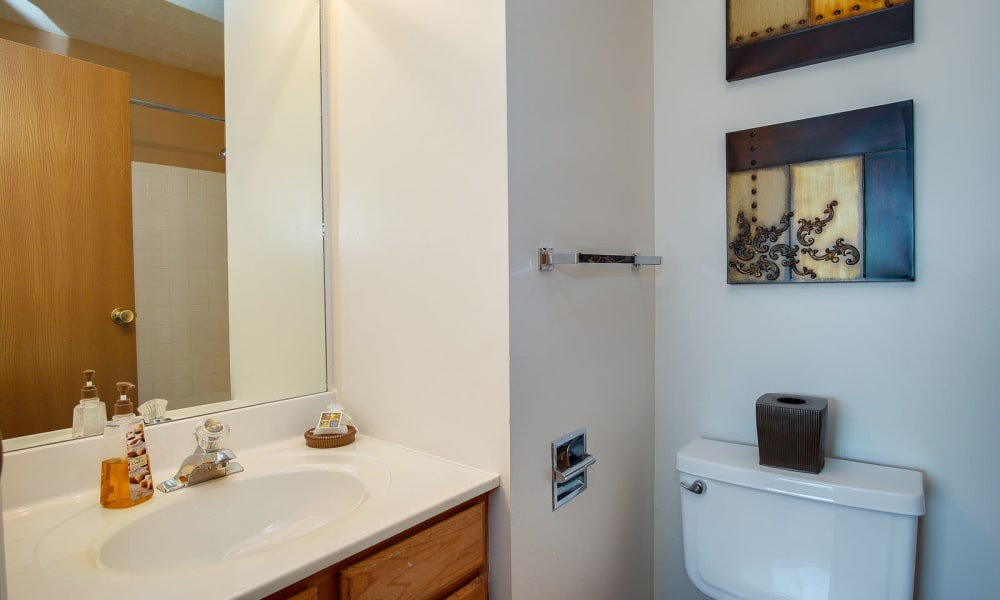 Bathroom at Hidden Lakes Apartment Homes in Miamisburg, OH