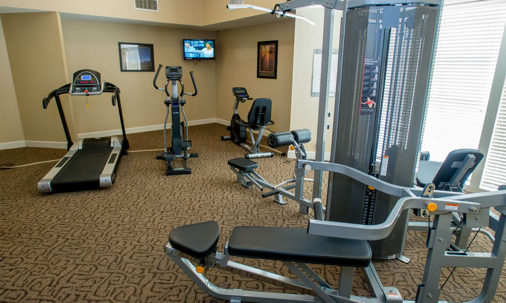 Gym area at Eagle Point Apartments in Tulsa, Oklahoma
