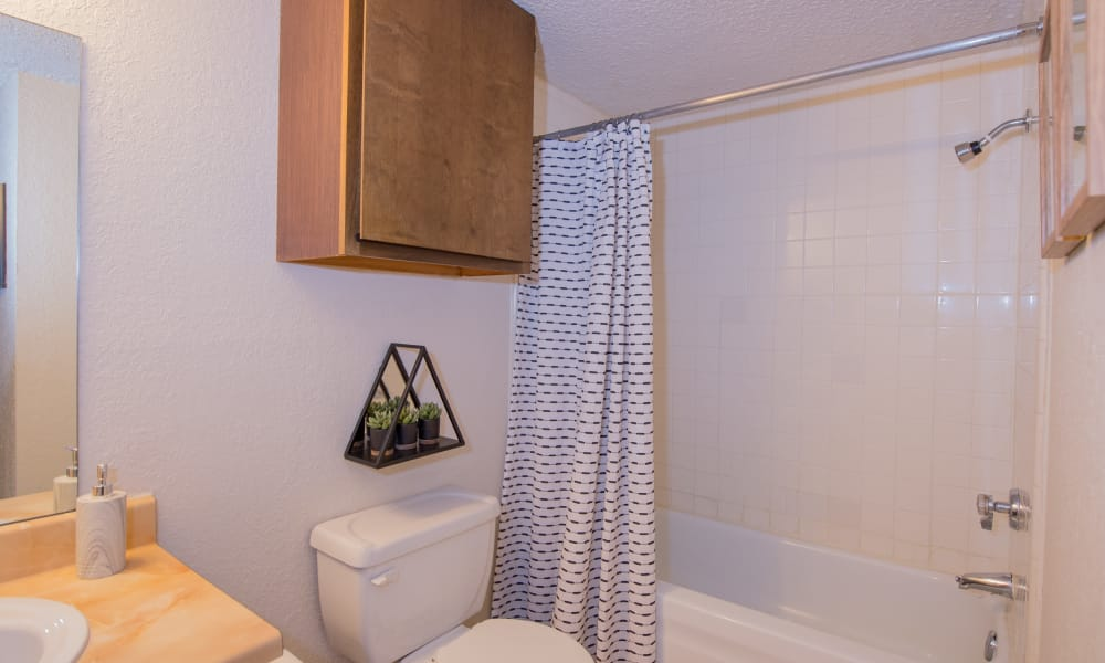 Bathroom at Eagle Point Apartments in Tulsa, Oklahoma