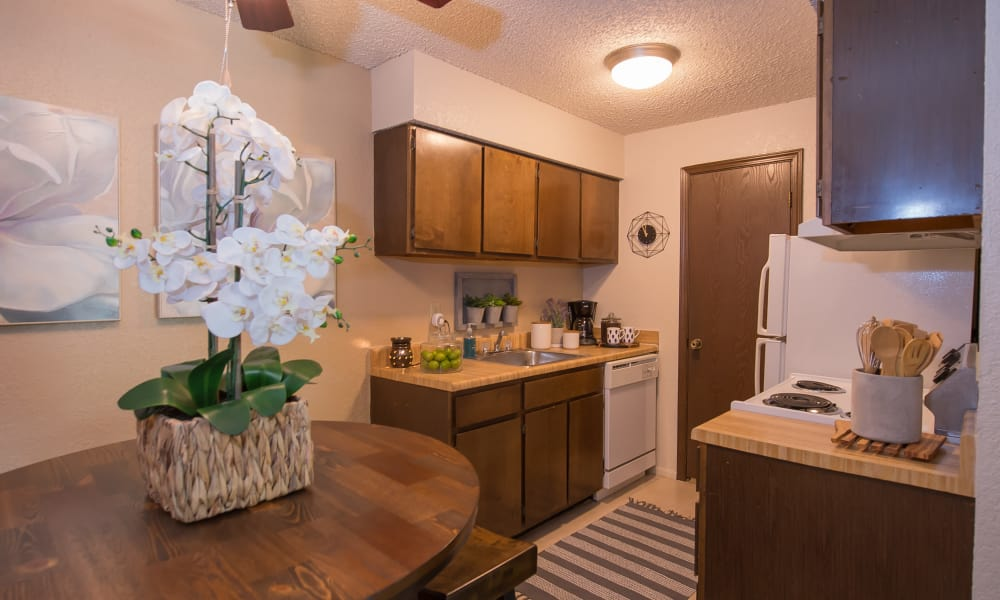 Large kitchen at Eagle Point Apartments in Tulsa, Oklahoma