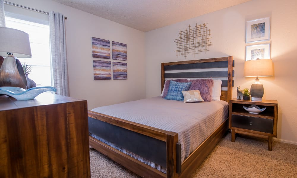 Bedroom at Eagle Point Apartments in Tulsa, Oklahoma