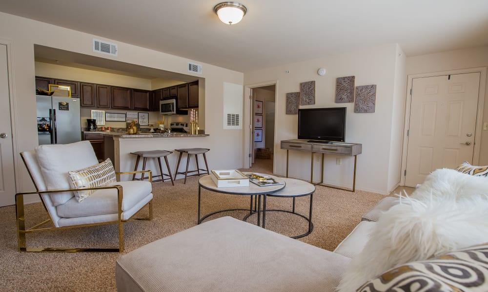 Spacious living room at Fountain Lake in Edmond, Oklahoma