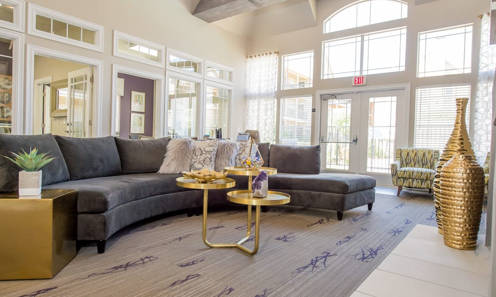 Clubhouse with vaulted ceilings at Fountain Lake in Edmond, Oklahoma