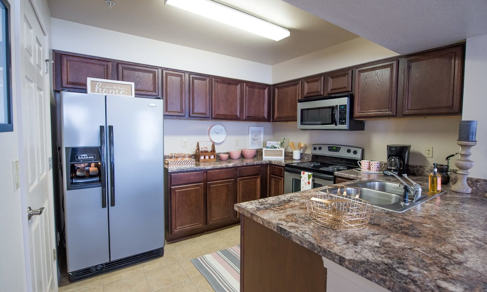 Spacious kitchen at Fountain Lake in Edmond, Oklahoma